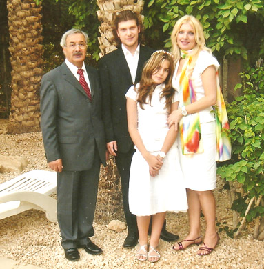 Family photo after Vicky's First Communion in Riyadh