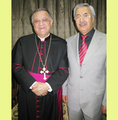 Cousin Fouad Twal, Latin Patriarch of Jordan and Palestine